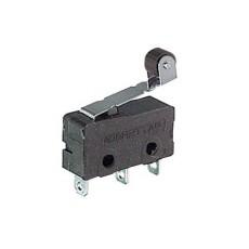 Deviatore finecorsa in miniatura con leva e rotella e con terminali a saldare - 125V 3A