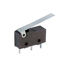 Deviatore finecorsa in miniatura con leva da circuito stampato - 125V 3A