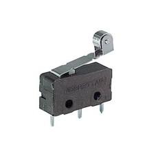 Deviatore finecorsa in miniatura con leva e rotella da circuito stampato - 250V 5A