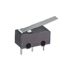 Microdeviatore finecorsa con leva da circuito stampato - 125V 1A