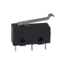 Deviatore finecorsa in miniatura con leva da circuito stampato - 250V 3A