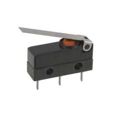 Deviatore finecorsa in miniatura waterproof con leva da circuito stampato - 250V 3A