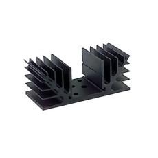 Dissipatore termico per 2 TO3 - resistenza termica 4,5°C/W