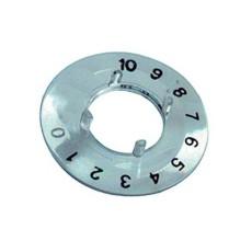 Disco graduato trasparente 0-10 su 270 per manopole componibili diametro 15mm