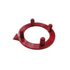 Ghiera con indice per manopole componibili diametro 15mm - rosso