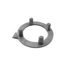 Ghiera con indice per manopole componibili diametro 15mm - grigio