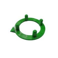 Ghiera con indice per manopole componibili diametro 15mm - verde