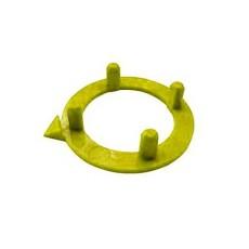 Ghiera con indice per manopole componibili diametro 15mm - giallo