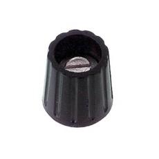 Manopola componibile per perni 6mm con fissaggio a mandrino - diametro 15mm - nera