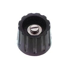 Manopola componibile per perni 6mm con fissaggio a mandrino - diametro 22mm - nera