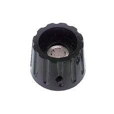 Manopola componibile per perni 6mm con fissaggio a vite - diametro 22mm - nera