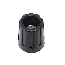 Manopola componibile per perni 6mm con fissaggio a vite - diametro 15mm - nera