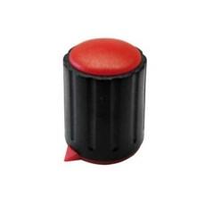 Manopola componibile per perni 6mm con fissaggio a vite con indice e cappuccio - diametro 15mm - rosso