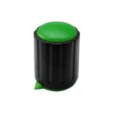 Manopola componibile per perni 6mm con fissaggio a vite con indice e cappuccio - diametro 15mm - verde