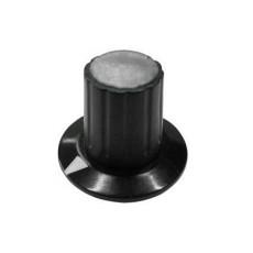 Manopola componibile per perni 6mm con fissaggio a mandrino con indice e cappuccio - diametro 26mm - grigio