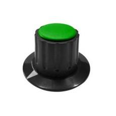 Manopola componibile per perni 6mm con fissaggio a mandrino con indice e cappuccio - diametro 36mm - verde