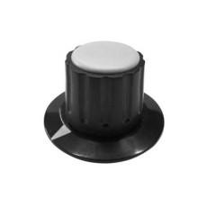 Manopola componibile per perni 6mm con fissaggio a mandrino con indice e cappuccio - diametro 36mm - grigio