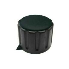 Manopola componibile per perni 6mm con fissaggio a mandrino con indice e cappuccio - diametro 29mm - nero