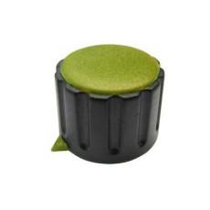 Manopola componibile per perni 6mm con fissaggio a mandrino con indice e cappuccio - diametro 29mm - giallo
