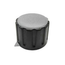 Manopola componibile per perni 6mm con fissaggio a mandrino con indice e cappuccio - diametro 29mm - grigio