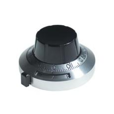 Manopola micrometrica analogica nera - diametro 46mm