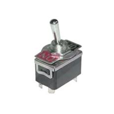 Interruttore a leva bipolare ON-OFF con terminali per faston 6,35mm - 33x20mm - 250Vca 10A