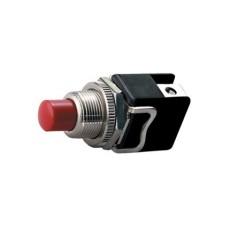 Interruttore a pulsante normalmente aperto con tasto rosso - diametro 12mm - 250V 4A