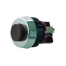 Interruttore a pulsante normalmente chiuso con tasto nero - diametro 19mm - 250V 0,7A