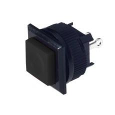 Interruttore a pulsante normalmente chiuso con tasto nero - 16x16mm - 250V 1A