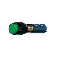 Interruttore a pulsante bipolare con tasto verde luminoso - diametro 14mm - 250V 1A
