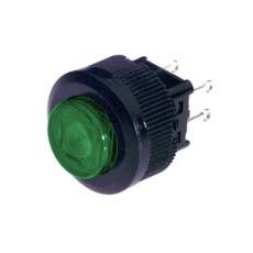 Interruttore a pulsante unipolare con tasto rosso luminoso - diametro 18mm - 250V 1A - 125V 3A