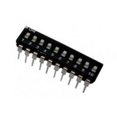 Dip switch orizzontale a basso profilo - 10 vie