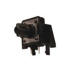 Micropulsante da circuito stampato a 90° con tasto nero - 12x12mm altezza 12mm - 12Vcc 50mA - confezione da 10pz