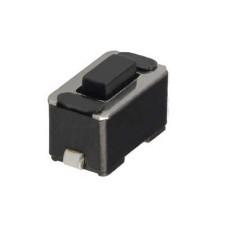 Micropulsante smd con tasto nero - 6x3,5mm altezza 4,3mm - 12Vcc 50mA - confezione da 10pz