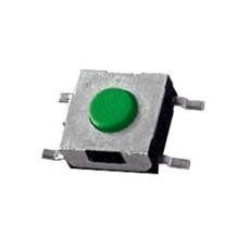Micropulsante smd con tasto verde - 6x6mm altezza 3,2mm - 12Vcc 50mA - confezione da 10pz