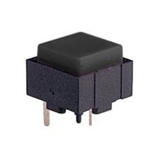 Micropulsante da circuito stampato con tasto nero - 12x12mm altezza 10mm - 24Vcc 10mA - confezione da 10pz