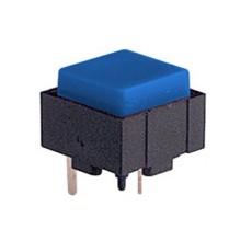 Micropulsante da circuito stampato con tasto blu - 12x12mm altezza 10mm - 24Vcc 10mA - confezione da 10pz