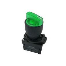 Selettore luminoso con leva a tre posizioni fisse - Verde