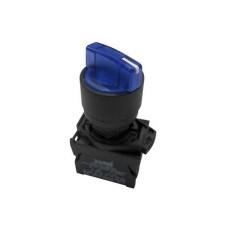 Selettore luminoso con leva a tre posizioni fisse - Blu