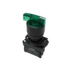 Selettore luminoso con leva lunga a due posizioni fisse - Verde