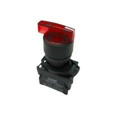 Selettore luminoso con leva lunga a tre posizioni fisse - Rosso
