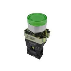 Pulsante piatto luminoso a rilascio - Verde