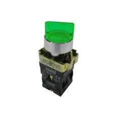 Selettore luminoso con leva a due posizioni fisse - Verde