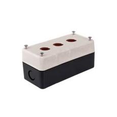 Contenitore portafrutto per selettori e interruttori diametro 22mm - 3 posti