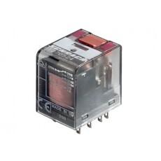 Rele' in miniatura di potenza a 2 contatti c/o in scambio - 24Vca 12A