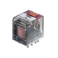 Rele' in miniatura di potenza a 4 contatti c/o in scambio - 24Vca 6A