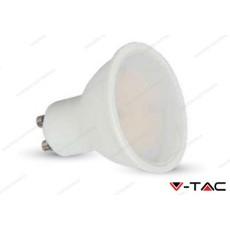 Faretto led V-TAC GU10 7W milky cover dimmerabile - 6000k bianco freddo - VT-2887D