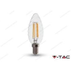 Lampadina led V-TAC a candela 4W - attacco E14 - 2700k bianco caldo - VT-1985