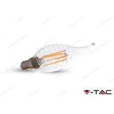 Lampadina led V-TAC a fiamma 4W - attacco E14 - 2700k bianco caldo - VT-1995