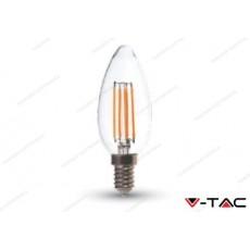 Lampadina led V-TAC a candela 4W - attacco E14 - 6000k bianco freddo - VT-1986